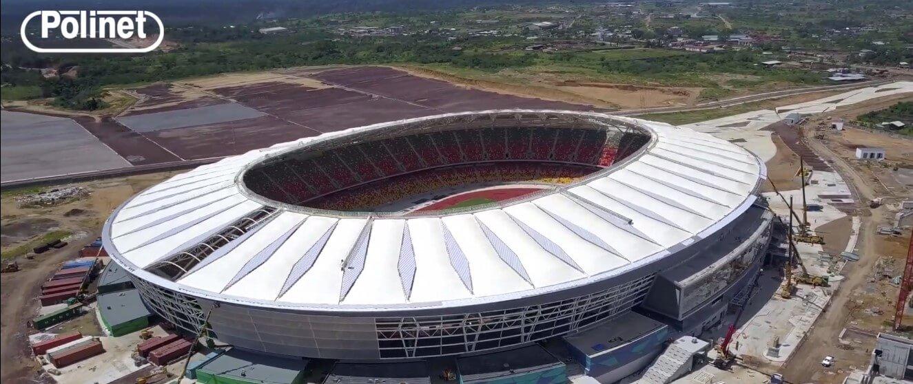 Kamerun Japoma Stadyumu Polinet'in Kilitli Sistem Polikarbonat İle Kaplandı